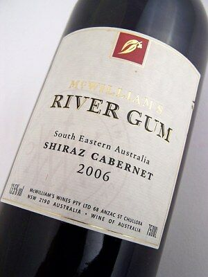2006 McWILLIAMS River Gum Red Shiraz Cabernet Isle of Wine