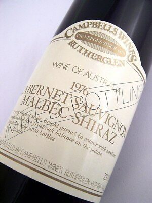 1976 CAMPBELLS Wines Limited Bottling Cabernet Malbec Shiraz Isle of Wine