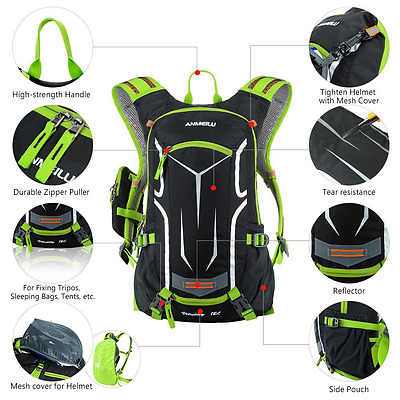 Cycling Backpack Shoulder Bag Ultralight Hydration Bicycle Bike 18L Outdoor