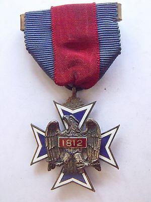 Ultra Rare Numbered Military Society Of The War Of 1812 Membership Medal #245