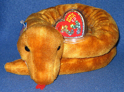 """UNUSED CODE 2008 32/"""" LONG TY SLITHERY THE 2.0 BEANIE SNAKE MWMT"""