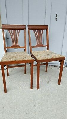 2 Vintage LEGOMATIC CHAIRS with nice wood frame