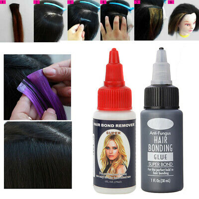 Hair Extension Salon Hair Wig Bonding Remover Gel 1oz Glue Adhesive Transparent