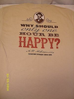 Dr McGillicuddy's Schnapps - Happy Hour Promo Men's T-Shirt *NEW*