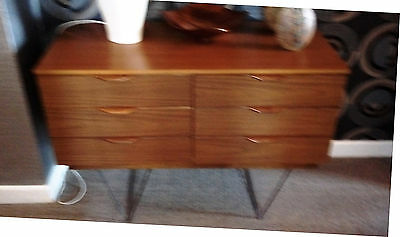 Mid century small sideboard with hairpin legs