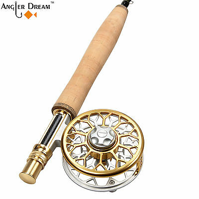 3/4/5/8WT Fly Fishing Combo Carbon Fiber Fly Rod CNC Machined Aluminum Fly Reel
