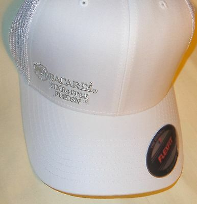 Bacardi Pineapple Fusion Rum Golf Hat - White with White Lettering...NEW