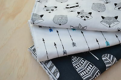 Baby Burp Cloth, Quality Toweling Back, Tribal Animals with Blue - set of 3
