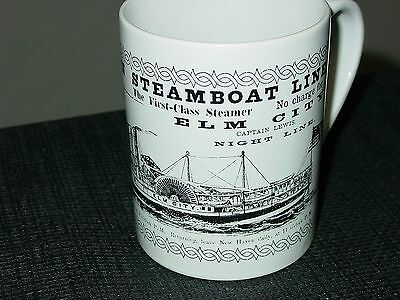 Vintage Antique Fare Advertising New Haven Steamboat Line 1860 Coffee Mug Cup