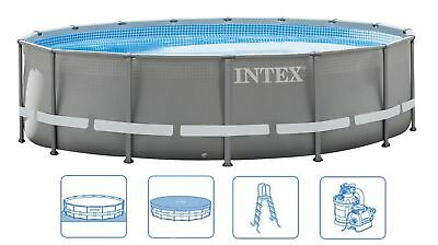 INTEX ULTRA FRAME SWIMMING POOL 488x122 KOMPLETTSET SCHWIMBAD MIT SANDFILTERPUMP