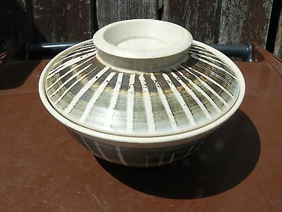 British Studio Pottery Pot With Lid Rutland Pottery  Free Uk Post