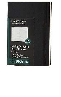 Moleskine 2015-2016 Weekly Notebook Diary Planner Hard Cover 18 Month Office