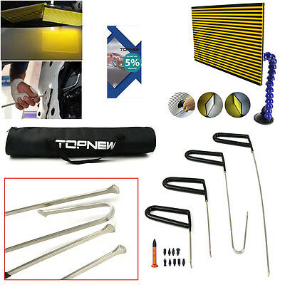 PDR Tools Whale Tail Rods Hail Remova Paintless Dent Repair LED Line Board Tools