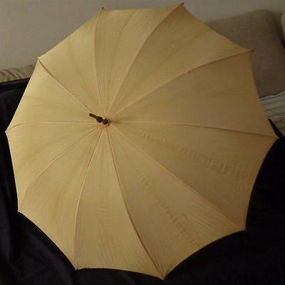 Wonderful 1920's Umbrella - Beautiful Brass Details, with Mother of Pearl VGC