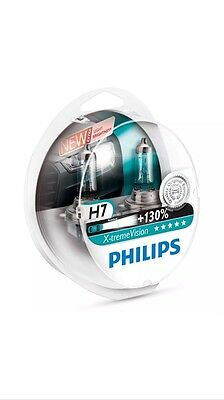 philips extreme VISION H7 +130% lumineux voiture AMPOULES de phare paire - Neuf