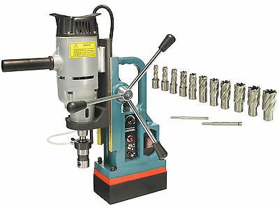 """Steel Dragon Tools® MD45 Magnetic Drill Press with 13PC 1"""" HSS Cutter Kit"""