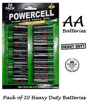 40 Powercell AA zinc batteries 1.5V UM-3 extra heavy duty extra super charger
