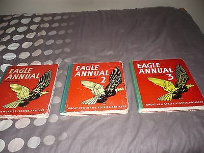Eagle Annuals No 1,2,3 1952/53/54 Hard To Find