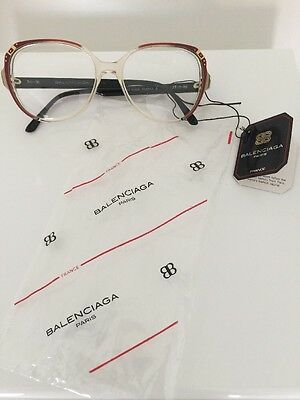 New VINTAGE BALENCIAGA EYEGLASSES 2719 RD Hand Made In France 54-16mm Paris