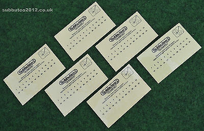 6 x PLAYER NUMBER TRANSFERS SHEETS Subbuteo Figures Shirt Back Team Stickers