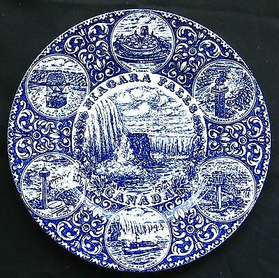 "Wood & Sons English Ironstone Niagara Falls Canada Made in England 10"" Plate."
