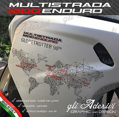 Set Adesivi DUCATI MULTISTRADA 1200 Enduro Globetrotter 90th