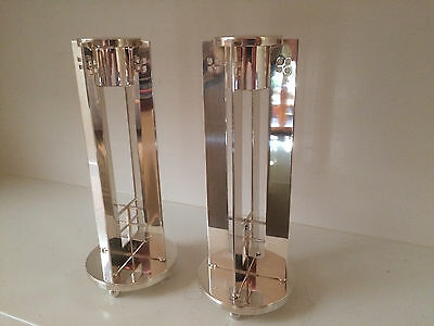 "Richard Meier for Swid Powell Silver Plate ""Skyscraper"" Candlesticks (pair)"