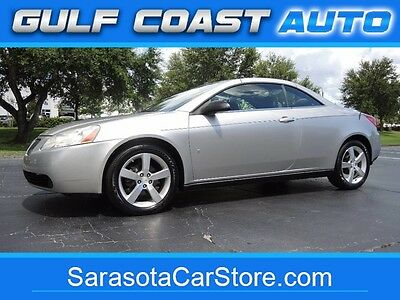 2008 Pontiac G6 GT CONVERTIBLE! FL CAR! ONLY 52K MILES! CARFAX CER 2008 Pontiac G6 GT CONVERTIBLE! FL CAR! ONLY 52K MILES! CARFAX CER 52726 Miles L