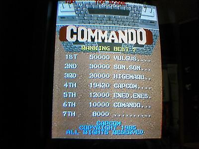 Capcom - COMMANDO - Arcade - 3 Board PCB SET - WORKING 100% - Free Shipping