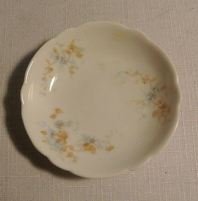 Theodore Haviland Limoge Blue Floral Butter Pat Made for Missouri Glass Co.