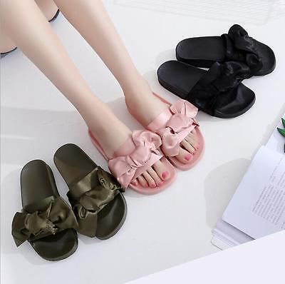 2017 Womens Satin Bow Summer Flip Flops Slippers Sandals free shipping