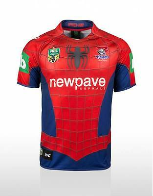 Newcastle Knights NRL ISC Marvel Spider Man Jersey Sizes 2XL ONLY!5