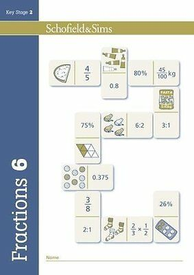 Fractions Decimals and Percentages Book 6 by Schofield & Sims New Paperback Book