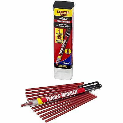 Markal 96132 Trades Marker 1 Holder 12 Refills Red 12 Red 1 Holder