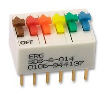 ERG SDS-6-014 6 Way SPST DIL Switch