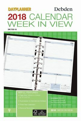 2018 Desk Dayplanner Refill Weekly Dated DK1700-18 (7-Ring) 216x140mm NEW