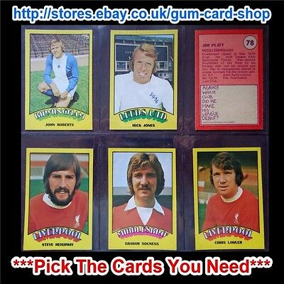 A&Bc 1974 Footballers Red Back (Good+) 73 To 132 *Pick The Cards You Need*