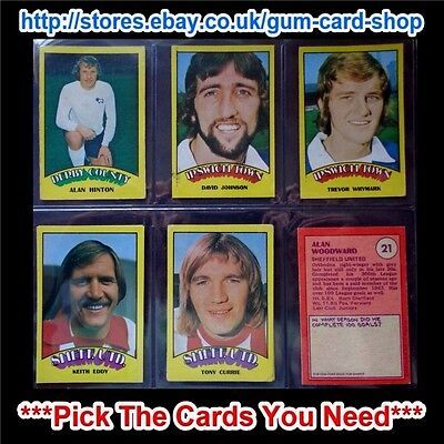 A&Bc 1974 Footballers Red Back (G/F) 1 To 132 *Pick The Cards You Need*