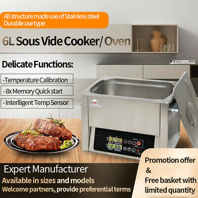 Precise Temp digital panel All stainless steel Commercial  6L Sous Vide cooker