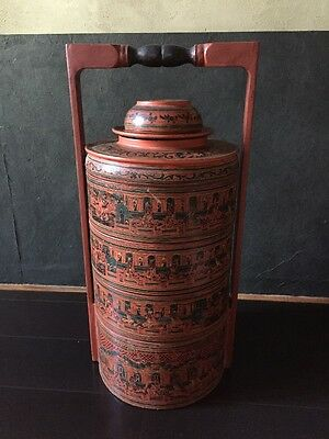 Vintage Burmese Stacking Lunch Box Food Container Myanmar