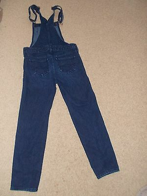 Abercrombie Youth Blue Denim Jean Overalls Girls Size MED