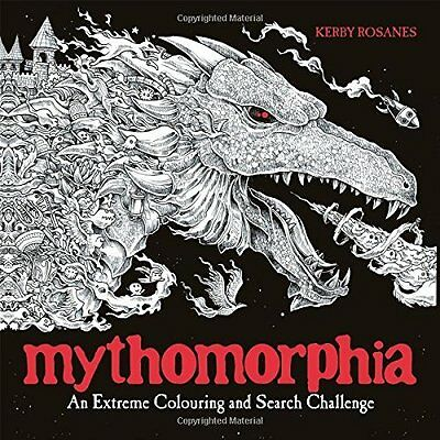 Mythomorphia: An Extreme Colouring and Searc by Kerby Rosanes New Paperback Book