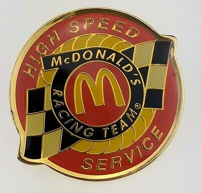 McDonald's High Speed Service Pin Racing Team Golden Arches Indy Flag Car