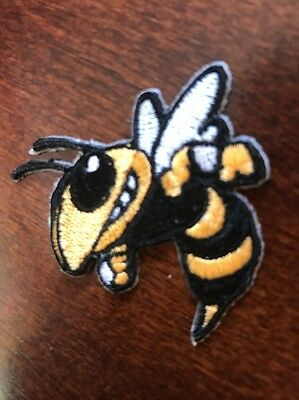 """GT Georgia Tech Yellow Jackets Vintage Embroidered Iron On Patch 2"""""""