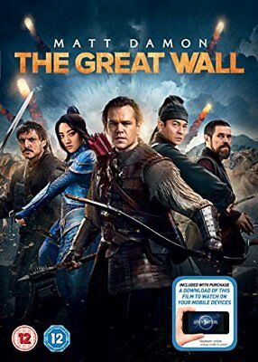 The Great Wall + digital download  with Matt Damon New (DVD  2017)