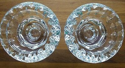 Vintage Set Of (2) Clear Crystal Glass Candle Holders Made By BOLSIUS FRANCE
