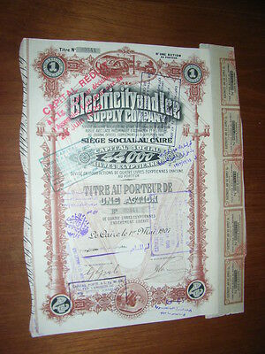 EGYPT: Electricity and Ice Supply Company, 1 sh piece 1907, beautifull