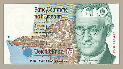 1997 CENTRAL BANK OF IRELAND £10 NOTE, P76b, CHOICE CRISP UNCIRCULATED