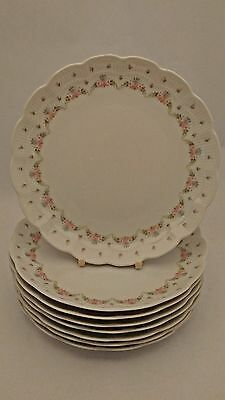 "Set of EIGHT Kaiser Romantica Marseille 7 7/8"" Salad Plates Designed K Hossek"
