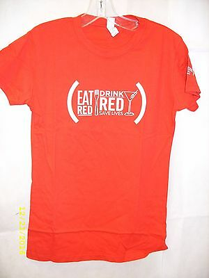 """Belvedere Red - Special Edition Vodka - """"Drink Red Save Lives"""" Promo T-Shirt NEW"""